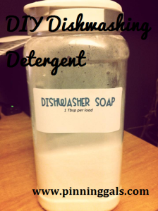 Dishwashing detergent DIY