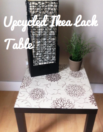 Ikea side table re-do
